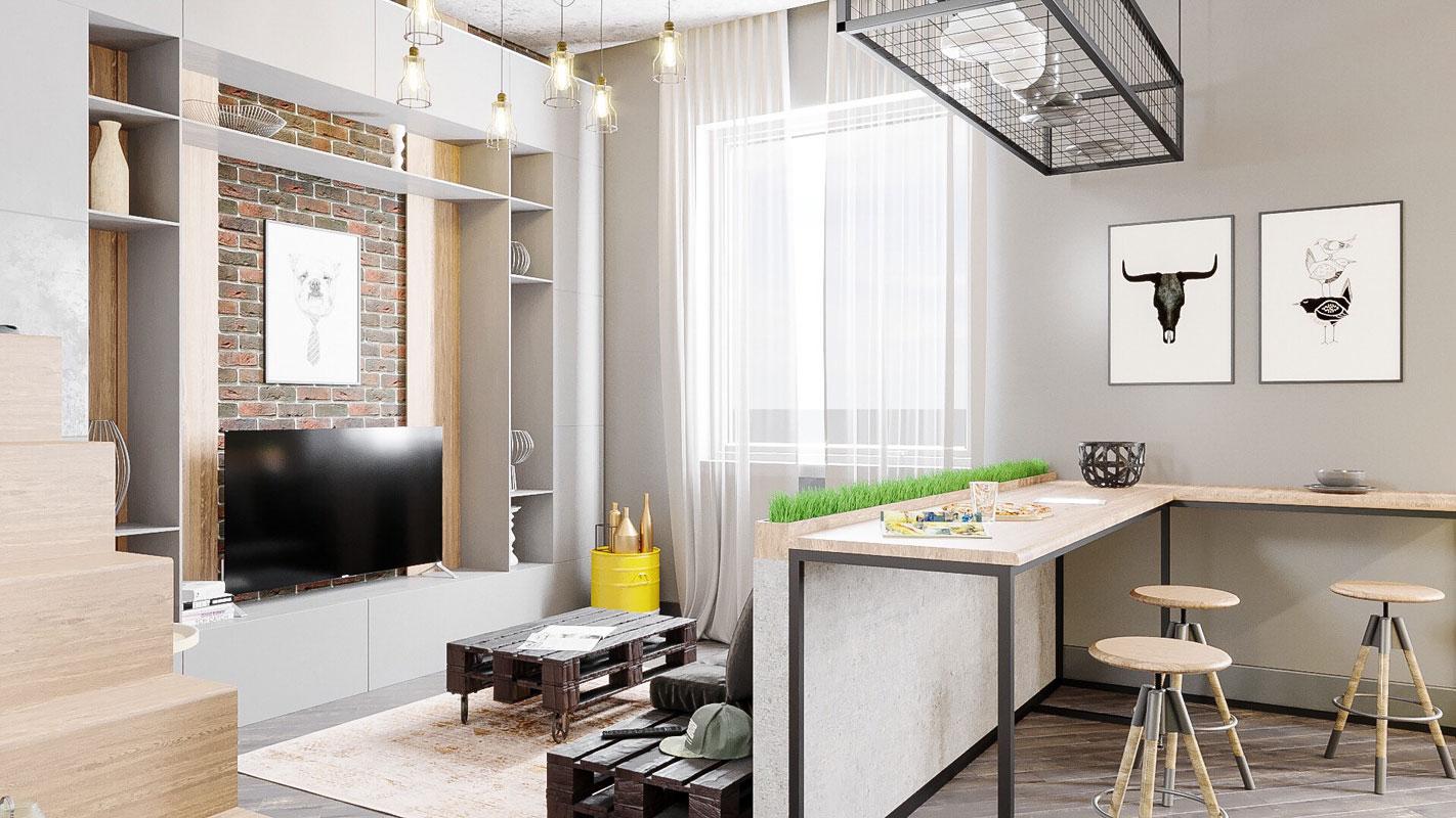 625fff6e8eee9b6b15581216777d7d92 - Идеи интерьера для квартиры-студии