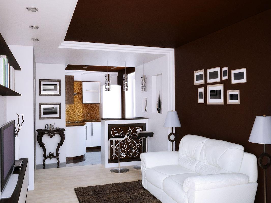 b img 2fec355cbd40 - Идеи интерьера однокомнатной квартиры