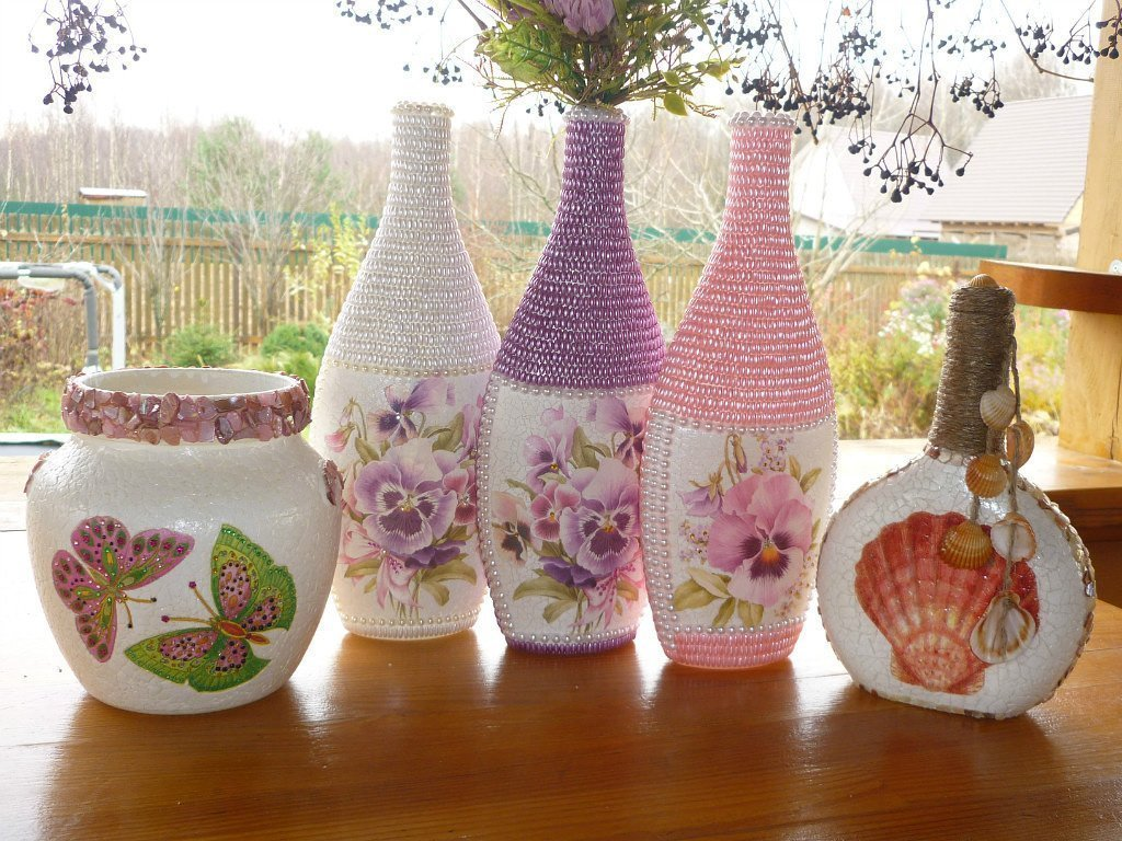 dekor yaichnoj skorlupoj - Декор ваз своими руками: 7 свежих идей