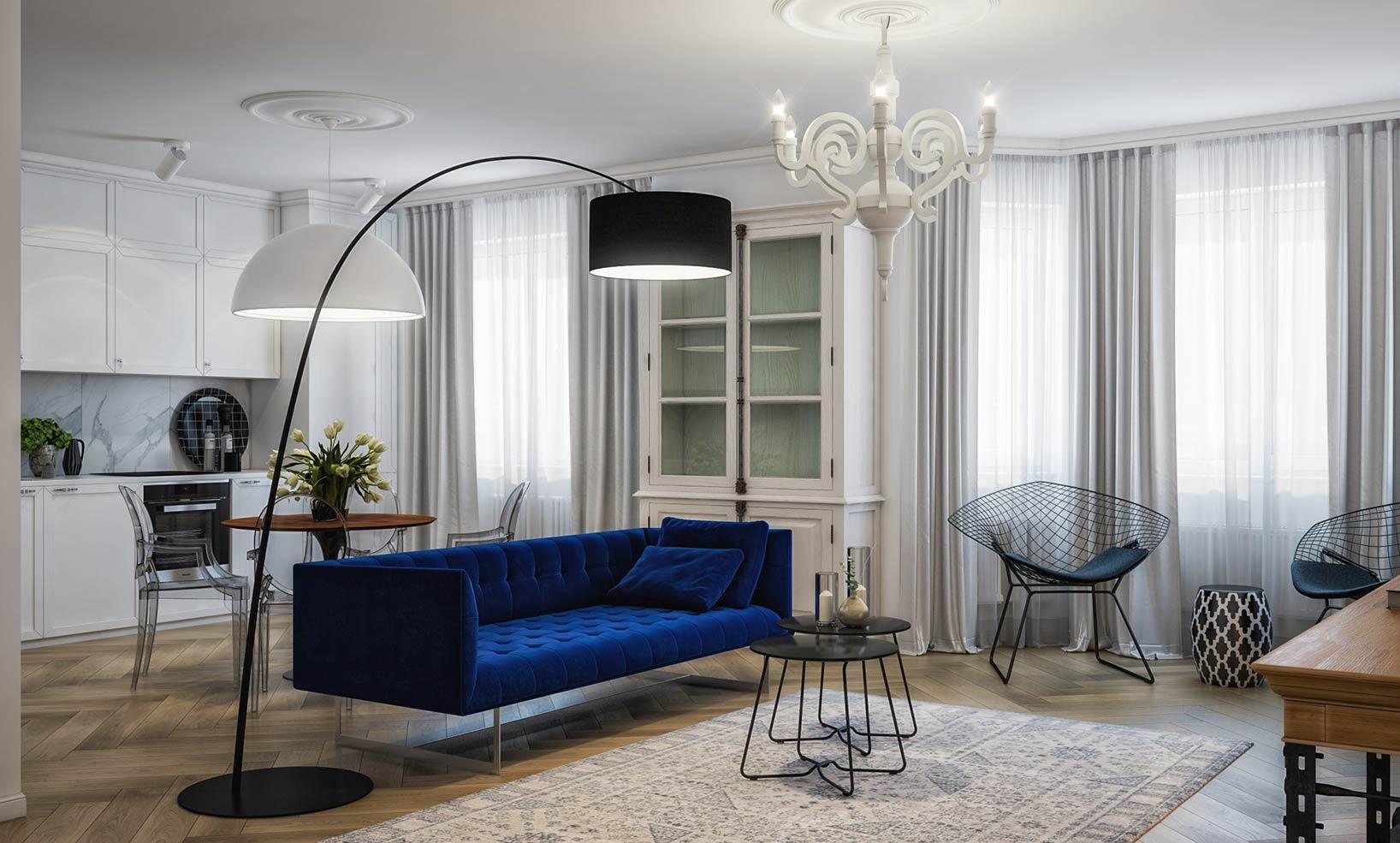 holly golightly - Идеи интерьера для квартиры-студии