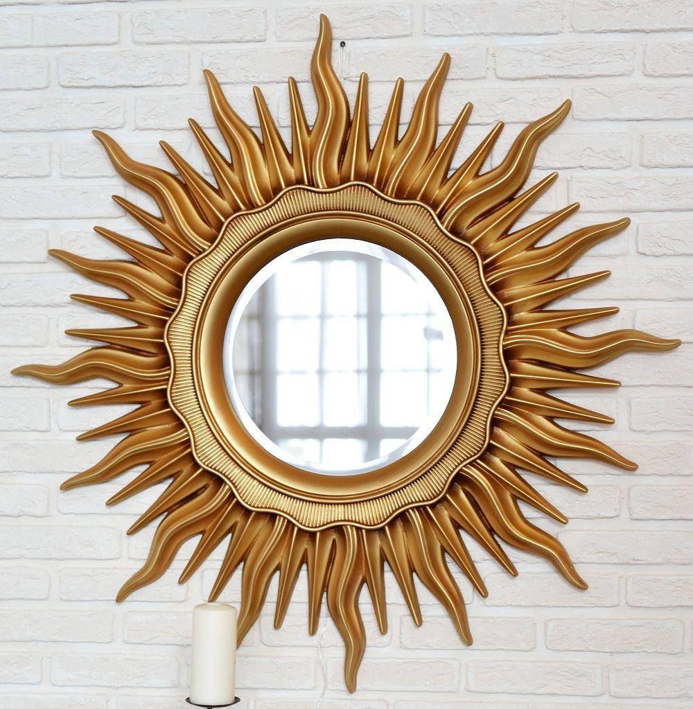 zerkalo v rame v vide solnca art deko zoloto patina - Ремонт и интерьер в стиле арт-деко