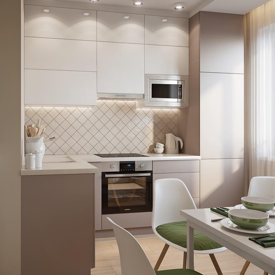 1538114416 kuhnya matovaya belaya - Интерьер кухни в белом цвете