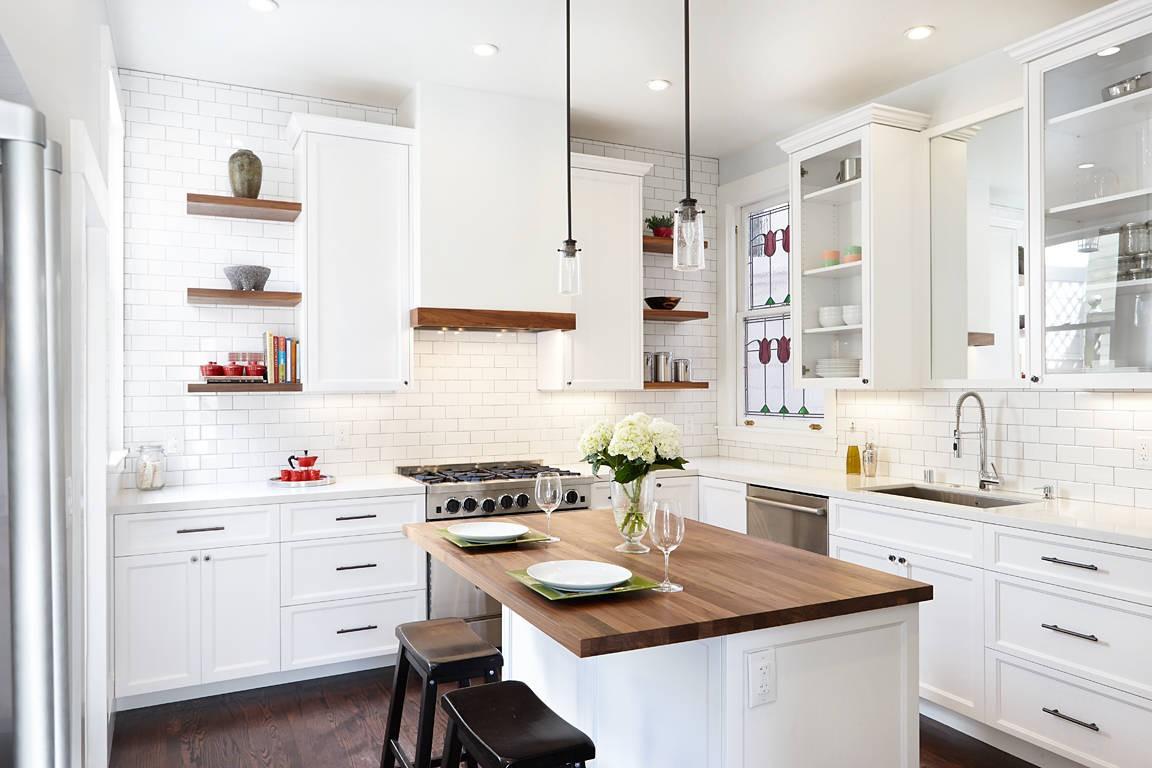 b img 93bc50672e4d - Интерьер кухни в белом цвете
