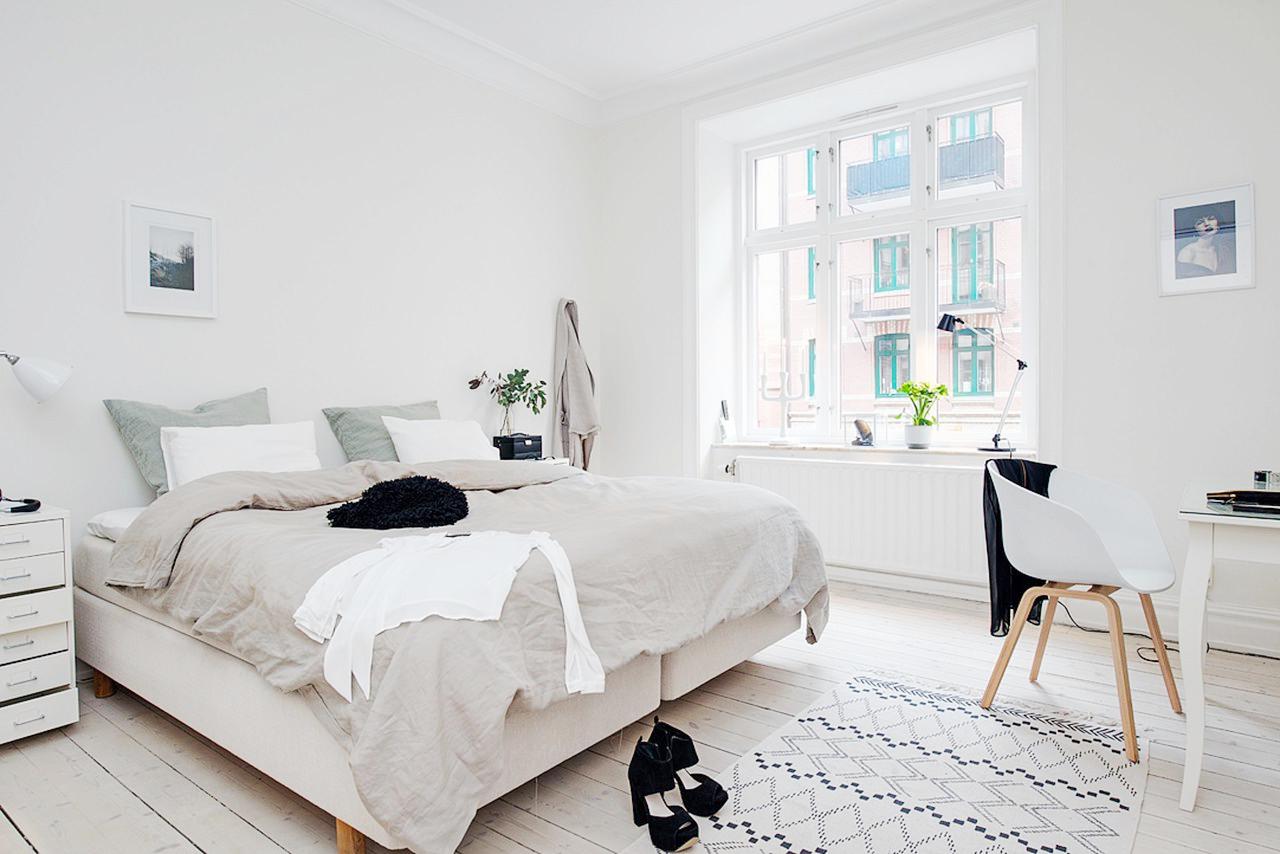 bedroom 4 - Интерьер спальни в белых тонах