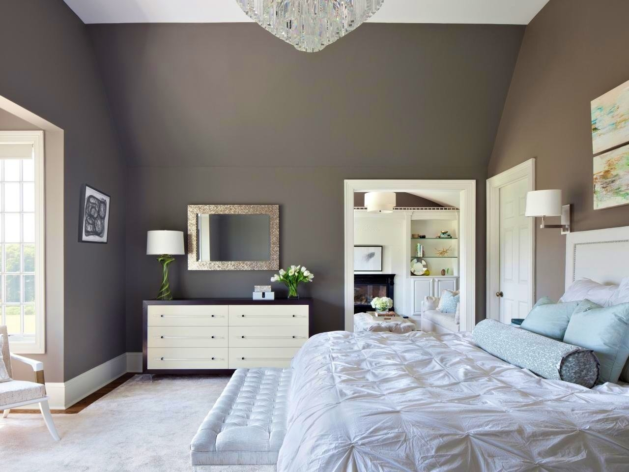 pokraska sten v interere 60 - Идеи для ремонта спальни своими руками