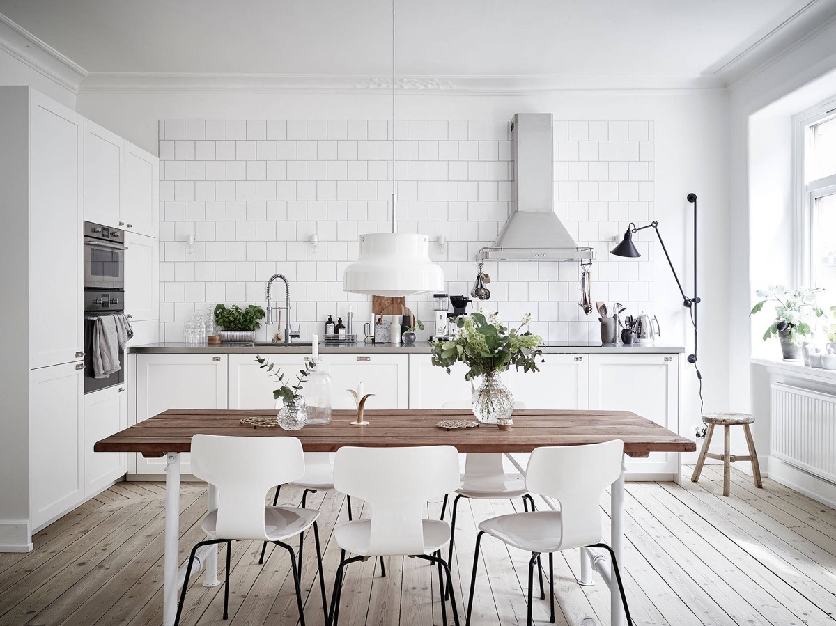 skaninavskaya kuhnya 1 - Интерьер кухни в белом цвете
