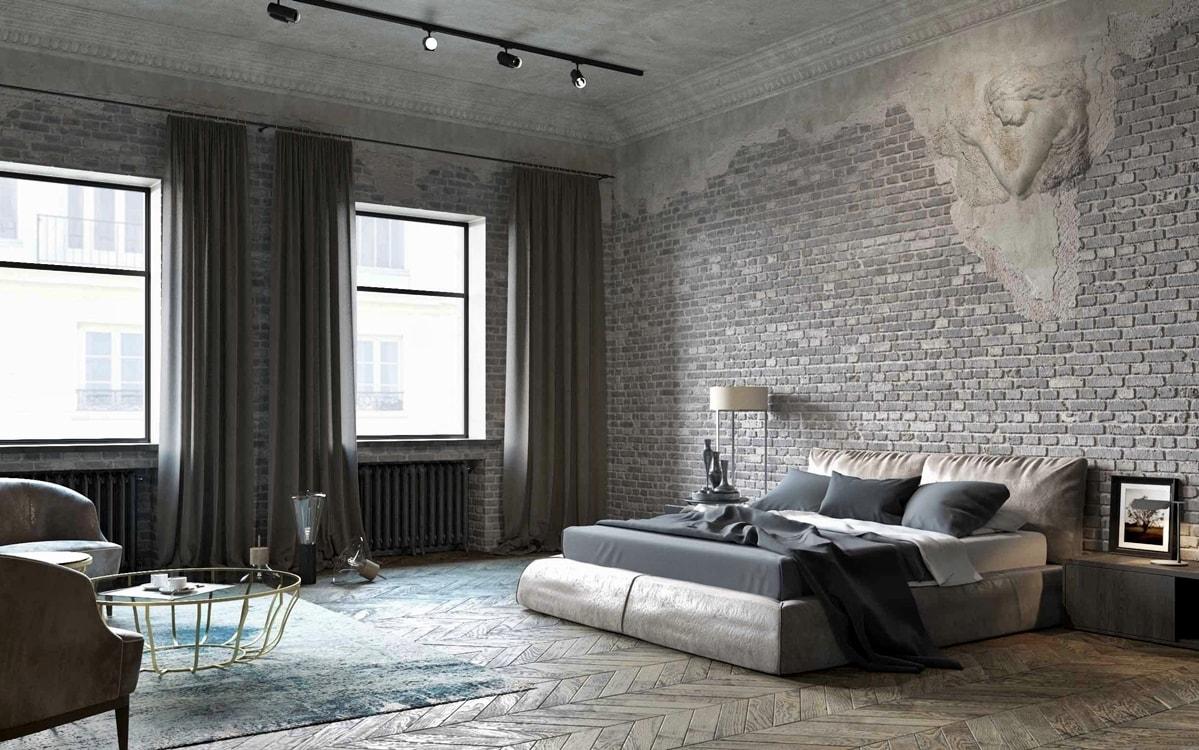 spalnya v stile loft - Интерьер в стиле лофт