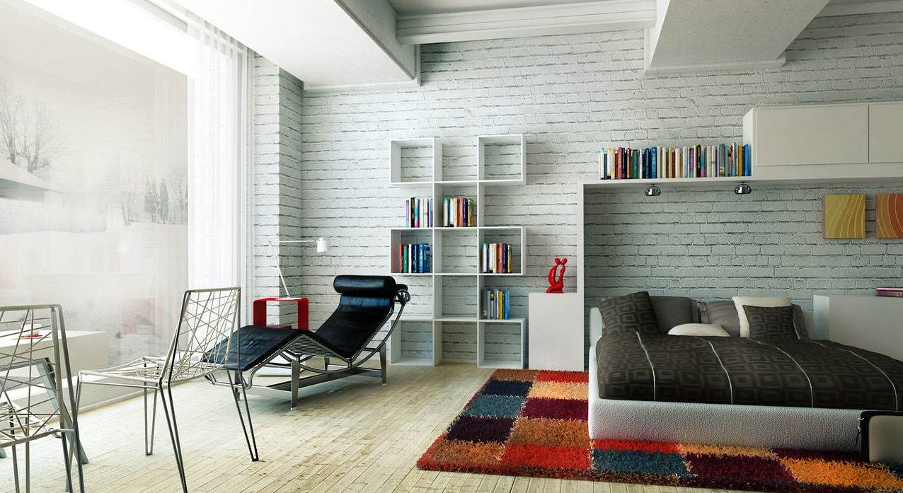 stil modern e1516390040962 - Белая кирпичная стена в интерьере комнаты