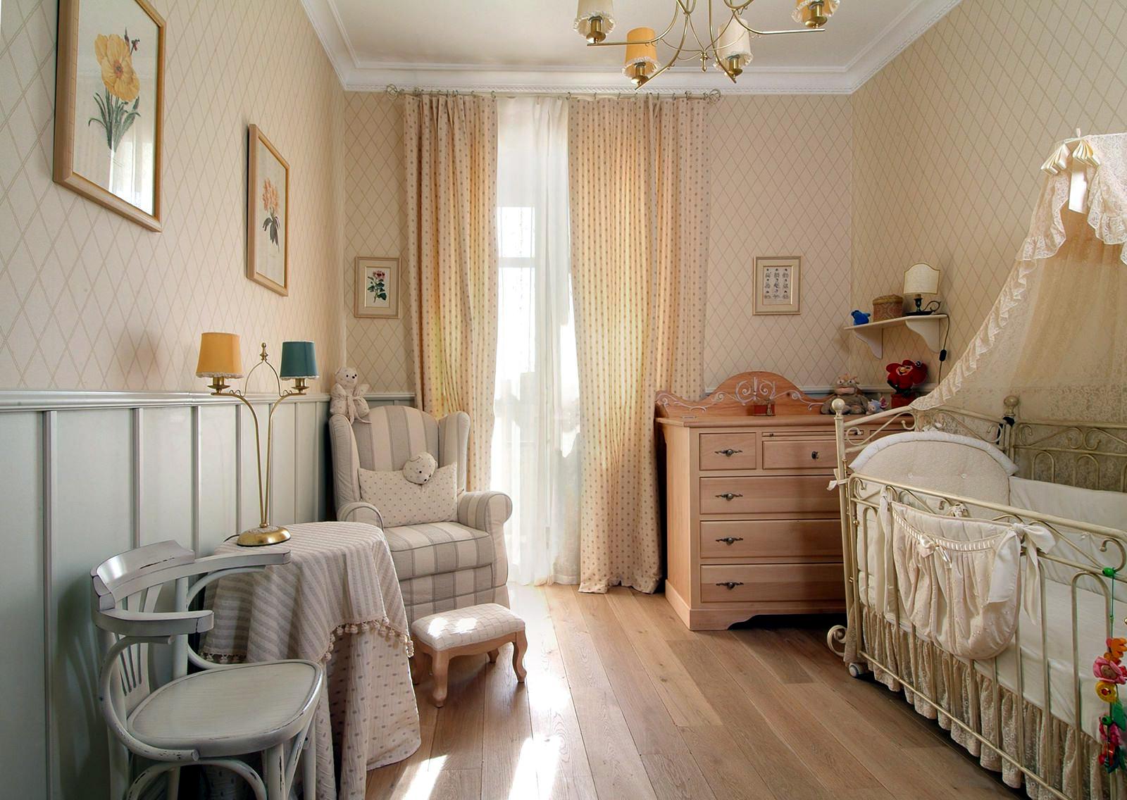 stili v interere provans v detskoj komnate14 - Идеи для ремонта спальни своими руками