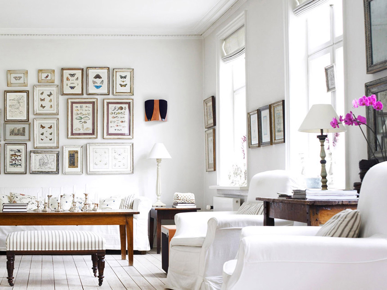 wall pictures home decoration - Интерьер спальни в белых тонах