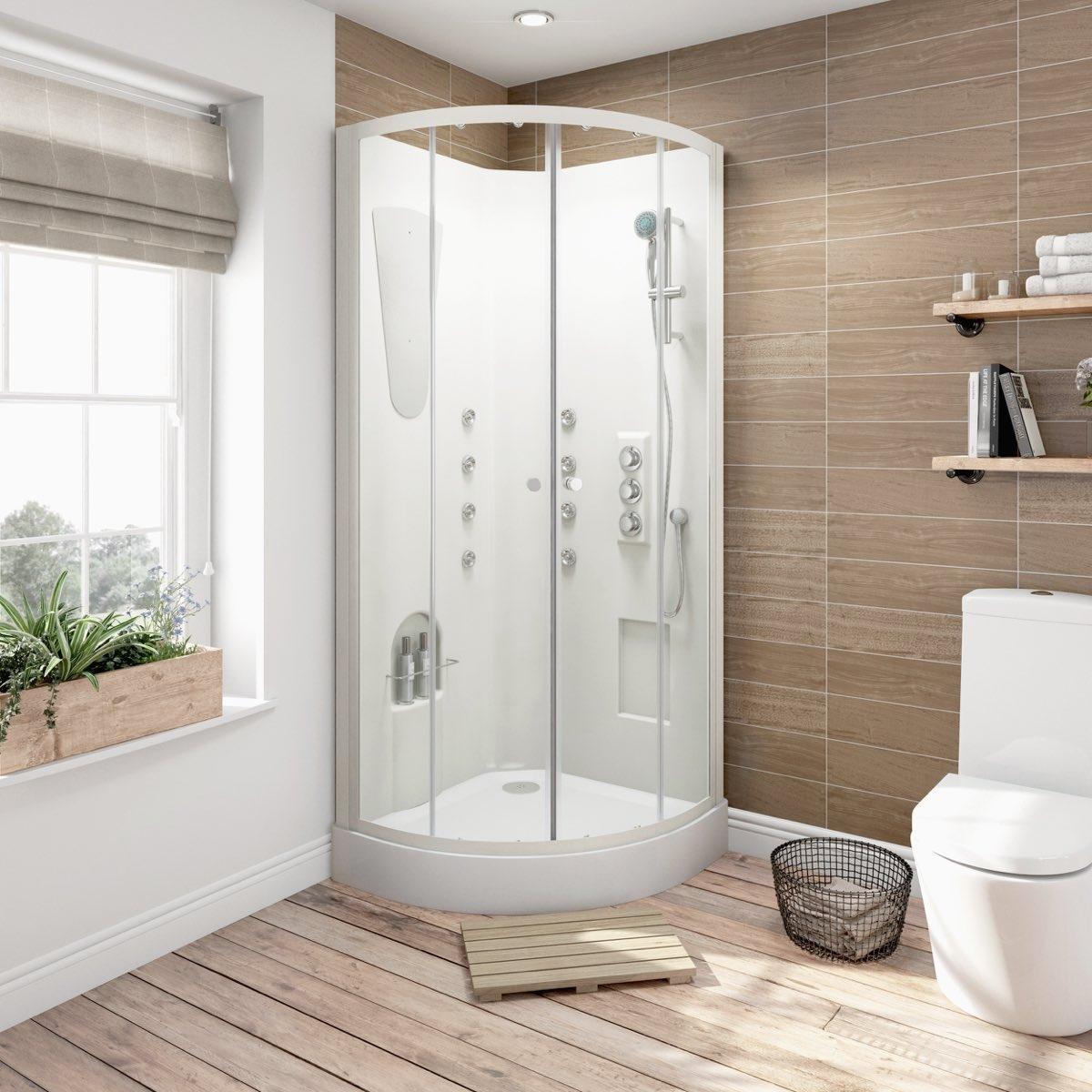 dizajn malenkoj vannoj komnaty s dushevoj kabinoj 2 - Идеи интерьера ванной комнаты