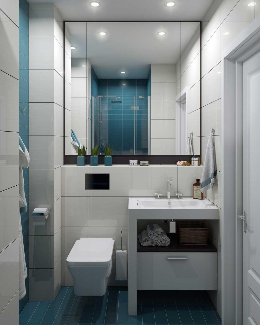 dizajn vannoj komnaty 3 kvadratnyh metrov foto 2016 sovremennye idei 13 - Идеи для ремонта в маленькой ванной