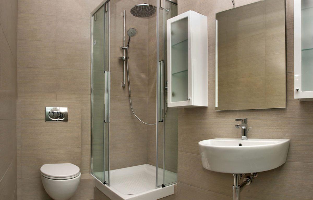 dushevaya kabina v dizajne interera malenkoj vannoj komnaty 2 - Идеи для ремонта в маленькой ванной