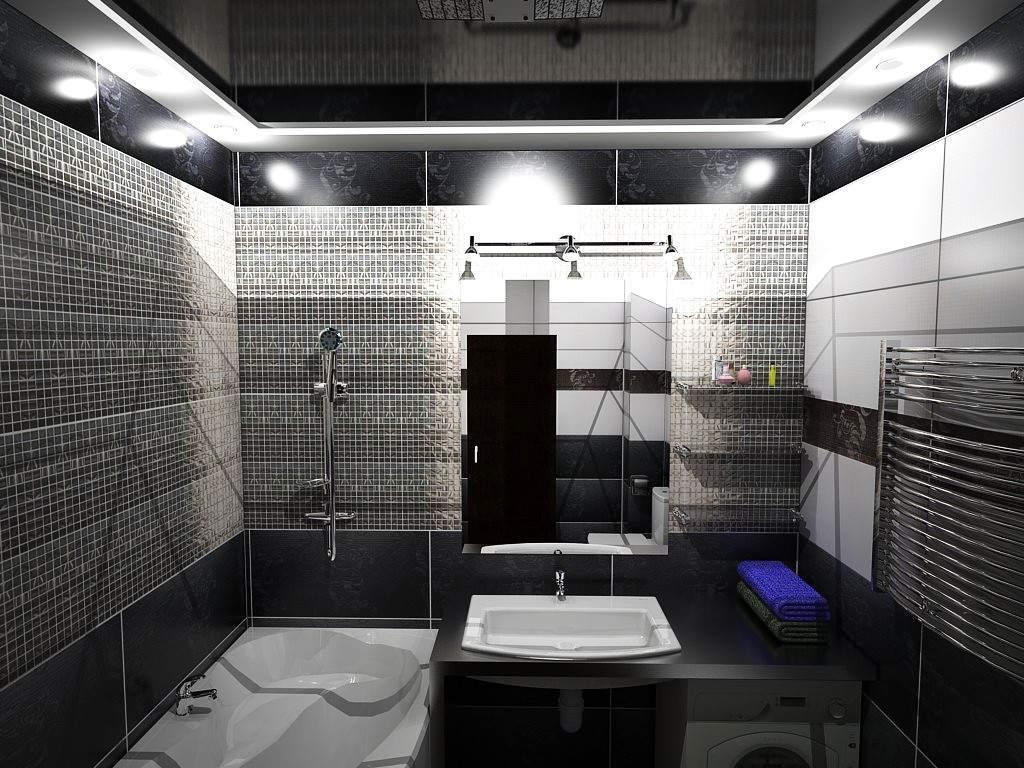 interer vannoj komnaty v chyornyh tonah preimushchestva i varianty oformleniya 11 - Идеи и советы для ремонта в ванной комнате
