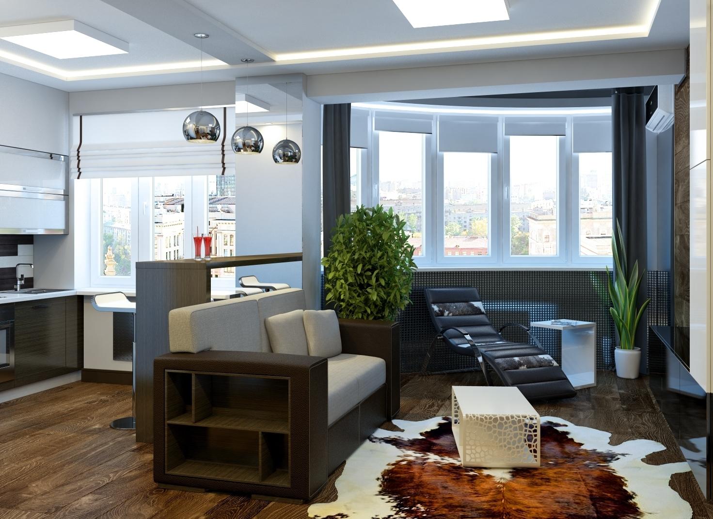primery dizajna interera kvartiry studii 9 - Идеи для ремонта квартиры-студии