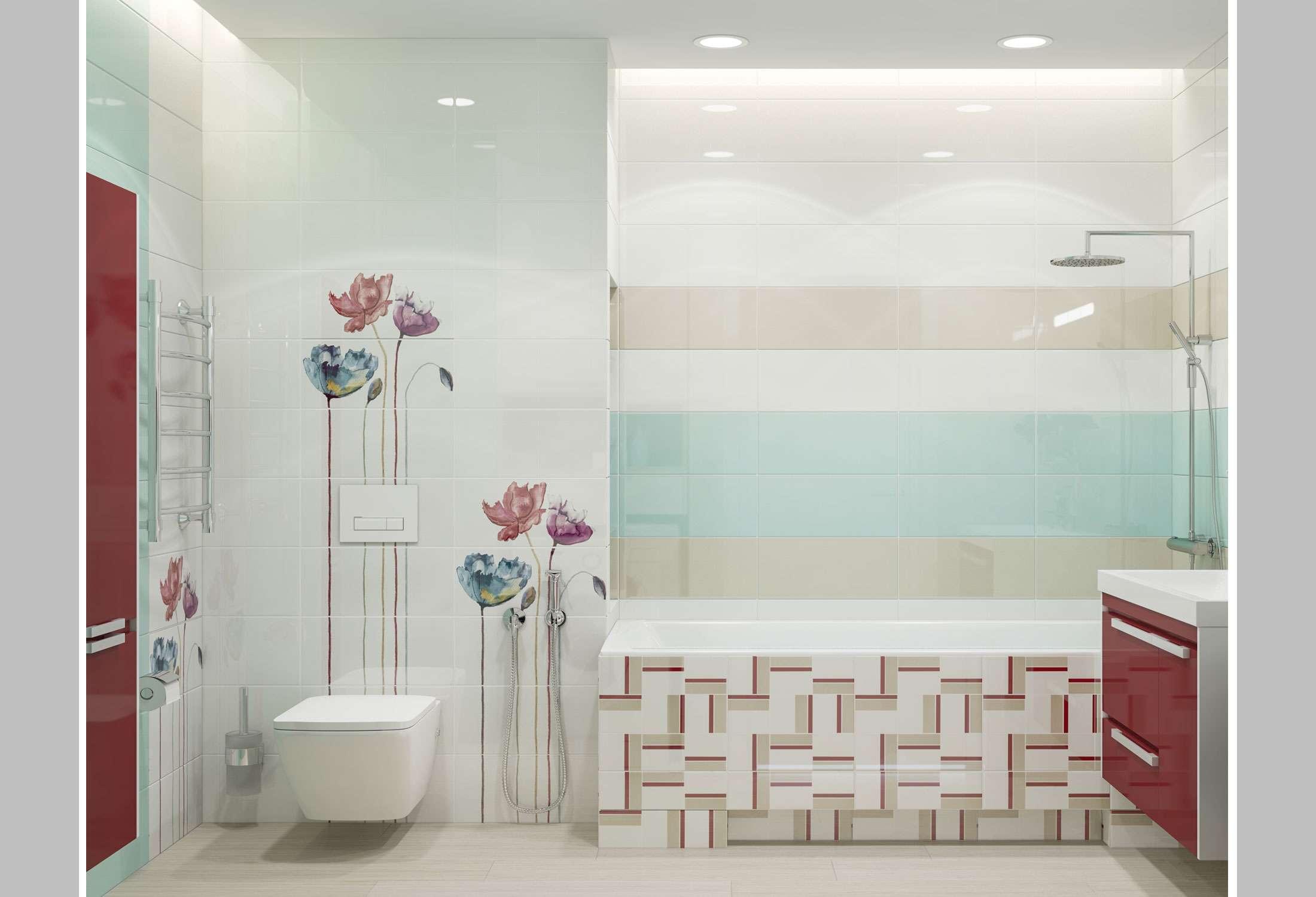sposobi ukladki plitki 15 - Идеи для ремонта в маленькой ванной