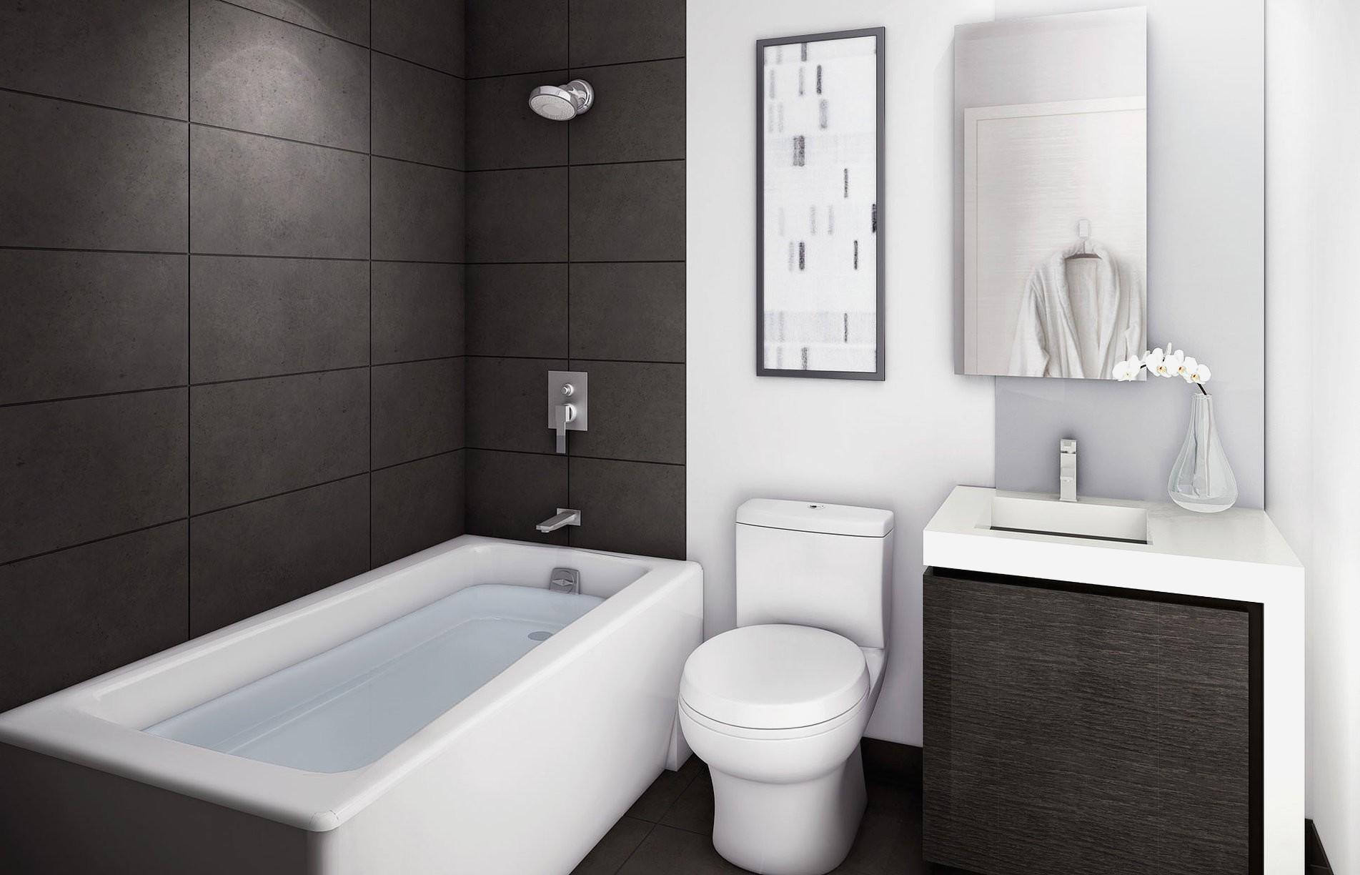 vannaya v stile minimalizm osobennosti vybora mebeli santehniki i aksessuarov 1 - Идеи и советы для ремонта в ванной комнате