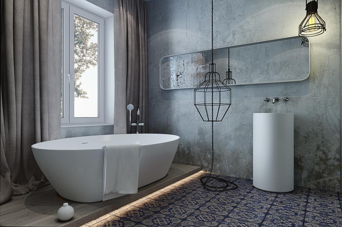 vannye v stile loft sovremennye tendencii v dizajne interera 1 - Идеи интерьера ванной комнаты