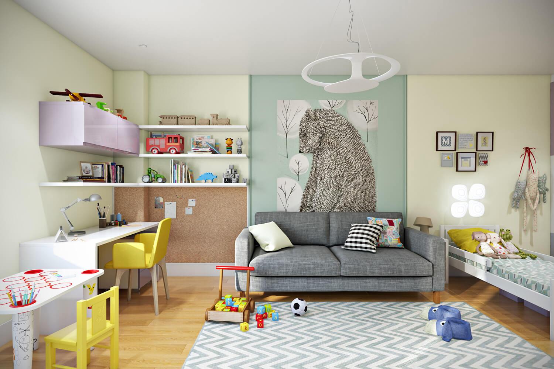 1002 - Идеи интерьера трехкомнатной квартиры