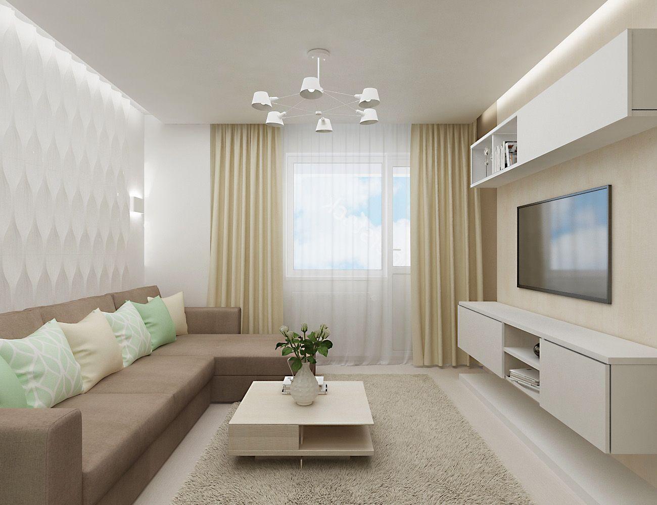 1037 - Идеи интерьера трехкомнатной квартиры