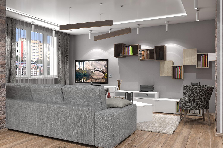 8 - Идеи интерьера трехкомнатной квартиры
