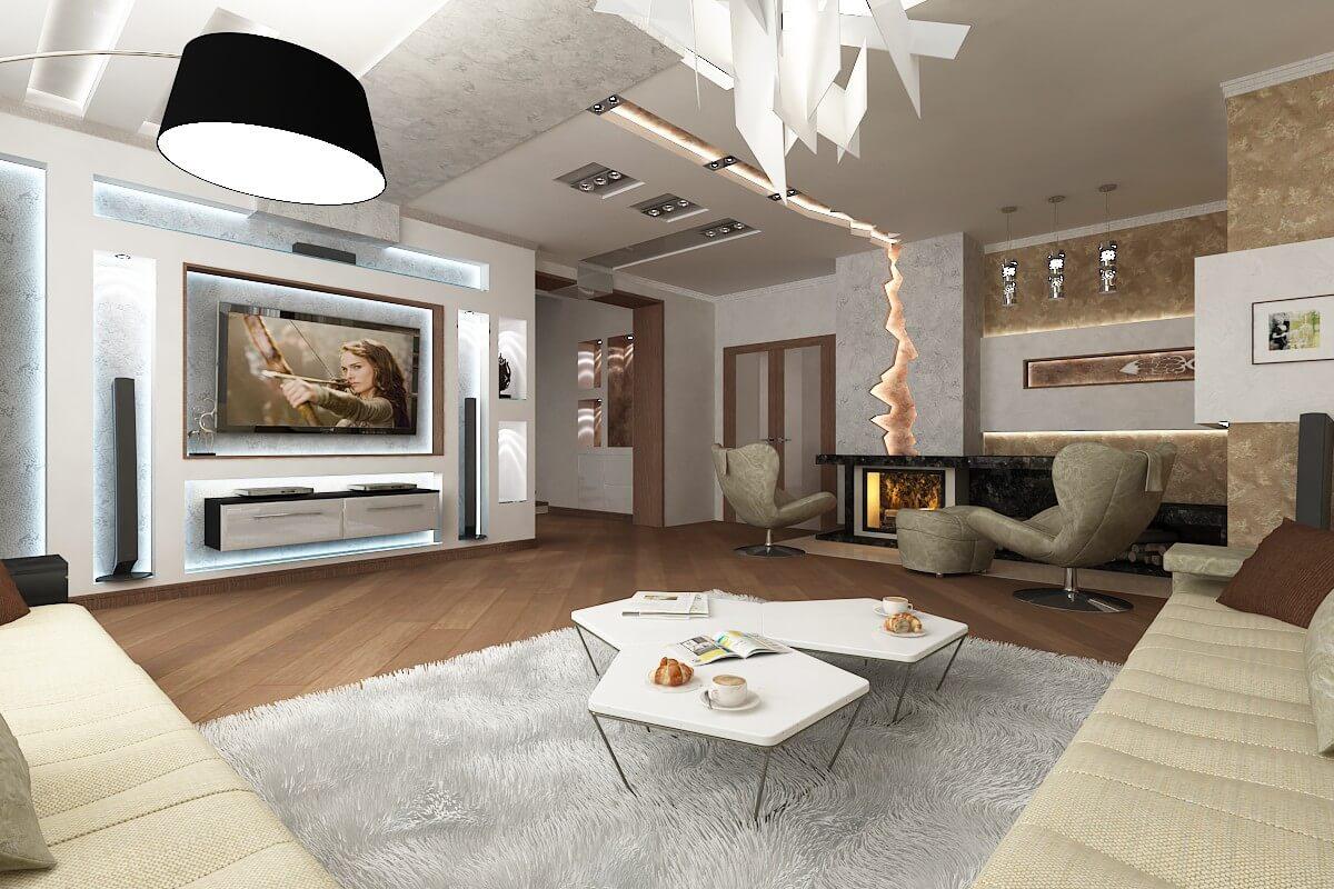 design 3komnatnoy - Идеи интерьера трехкомнатной квартиры