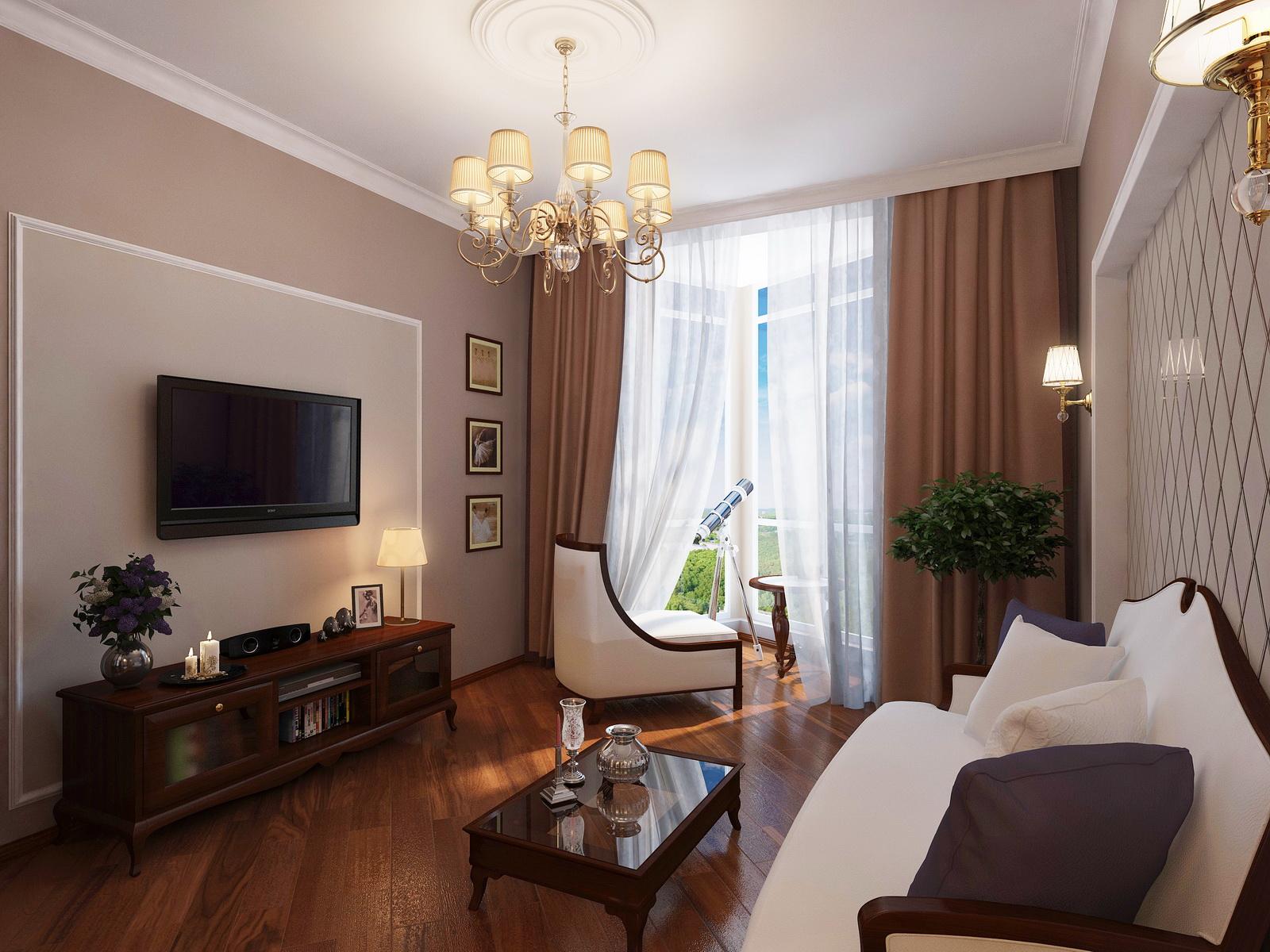 dizajn dvuhkomnatnoj kvartiry 9 - Идеи интерьера трехкомнатной квартиры