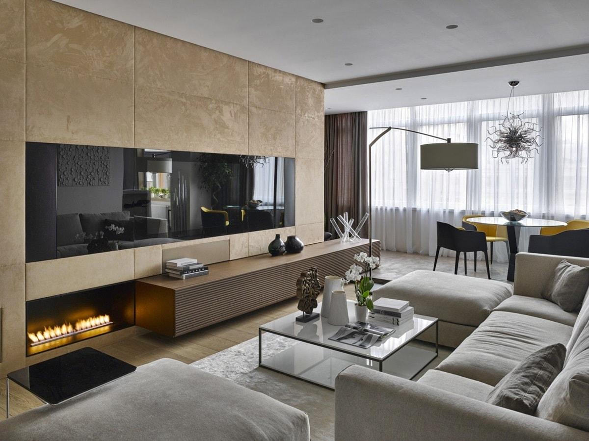 dizajn trehkomnatnoj kvartiry - Идеи интерьера трехкомнатной квартиры