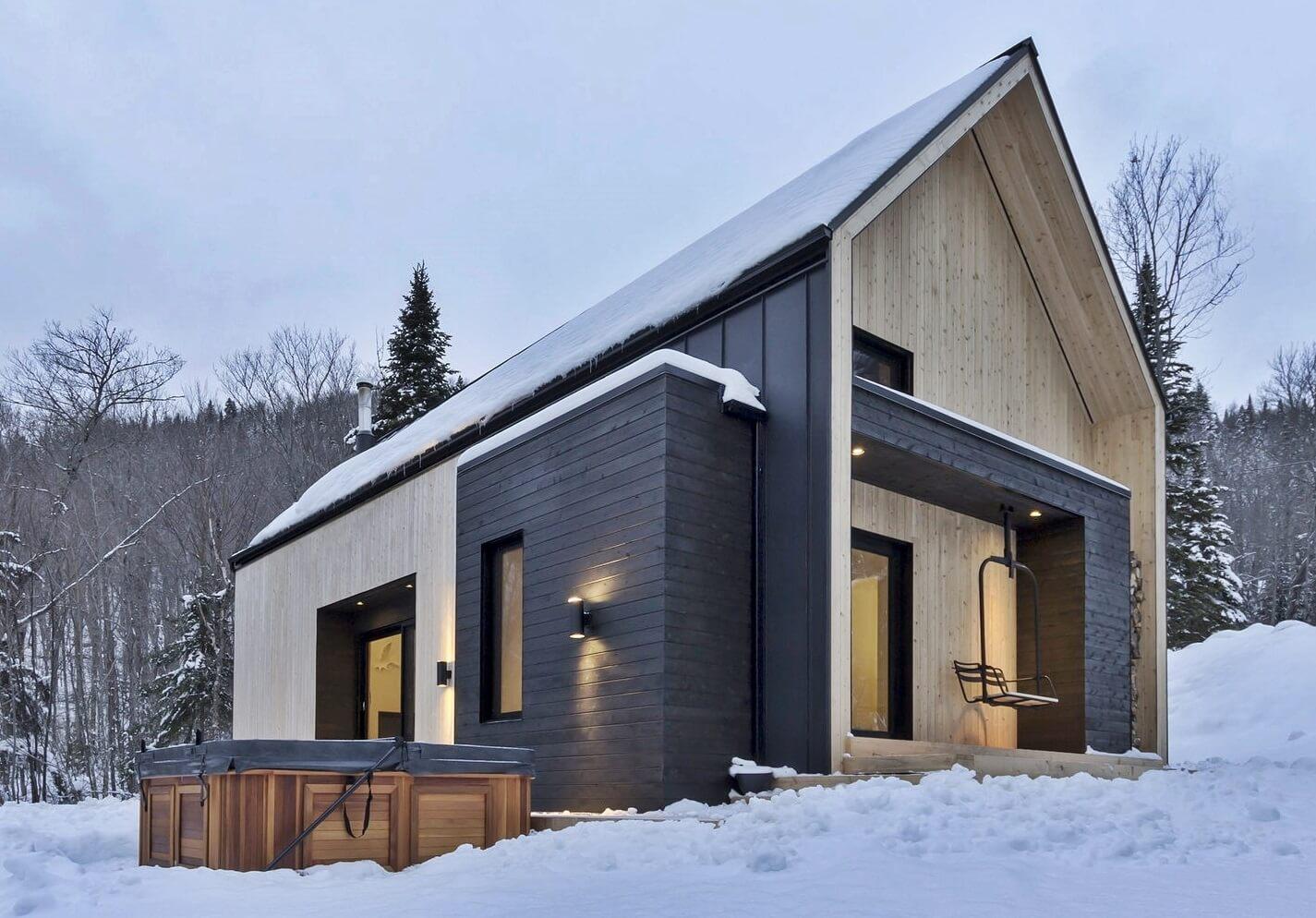 dom v skandinavskom stile - Фасадный декор своими руками