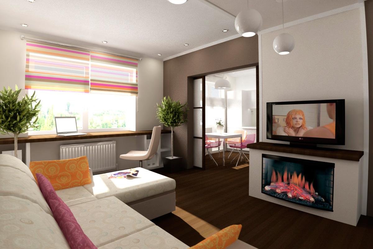 ideya krasivogo interera dvuhkomnatnoj kvartiry - Идеи интерьера двухкомнатной квартиры