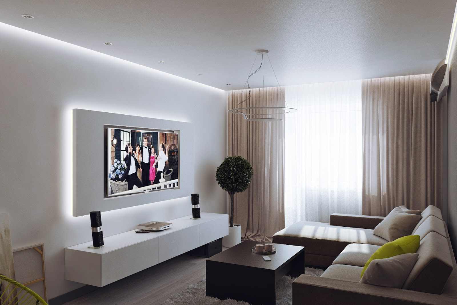 interer dvukhkomnatnoj kvartiry8 - Идеи интерьера трехкомнатной квартиры