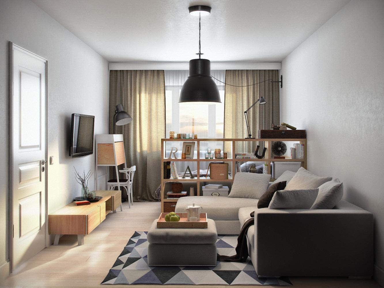 interer odnokomnatnoj kvartiry primery idei i rekomendacii - Идеи интерьера двухкомнатной квартиры