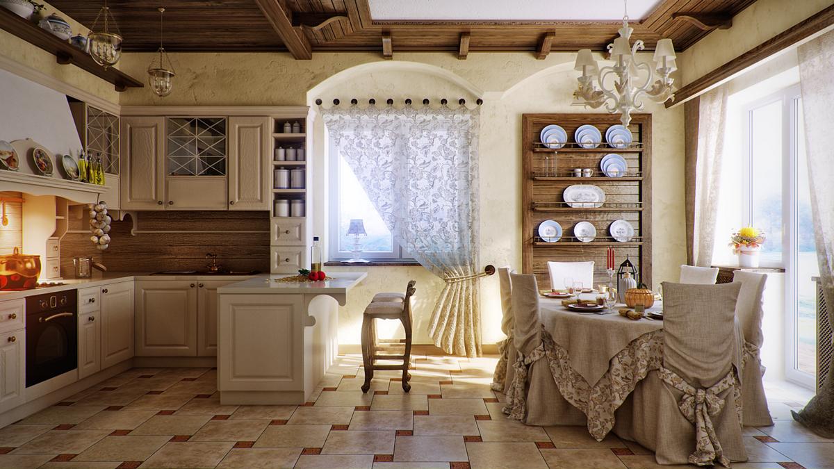 interer v stile kantri - Идеи для интерьера в стиле Прованс