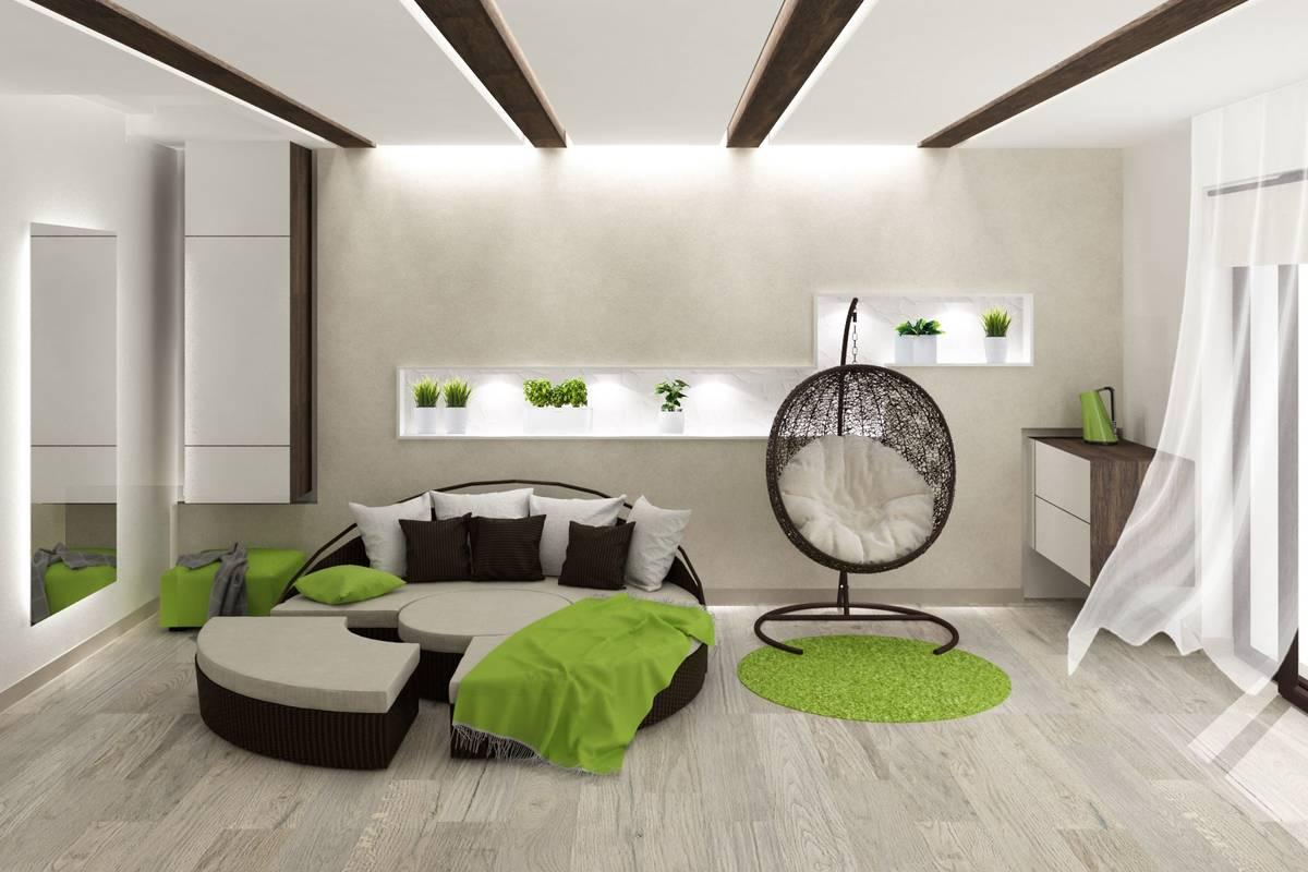 komnata otdyiha dizayn in 710 - Идеи интерьера трехкомнатной квартиры