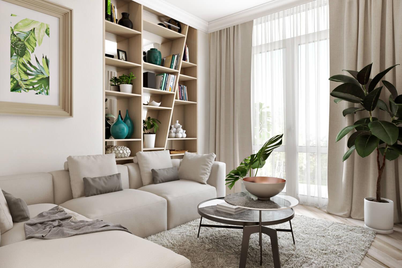 krasivyy dizayn interyera kvartiry vid01 - Идеи интерьера двухкомнатной квартиры