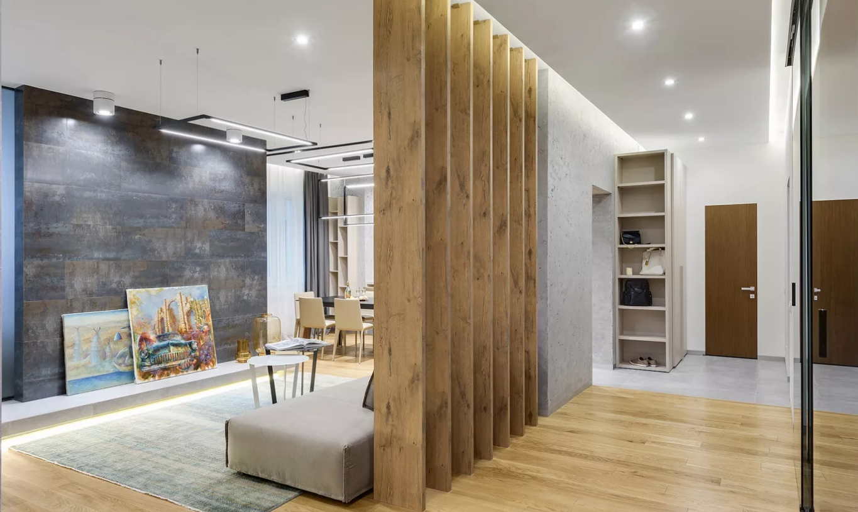 zoniruyuschaya konstruktsiya iz dereva - 10 идей для зонирования квартиры-студии