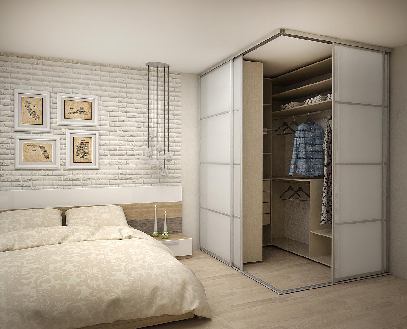 garderobnaya v spalne - Гардеробная в квартире