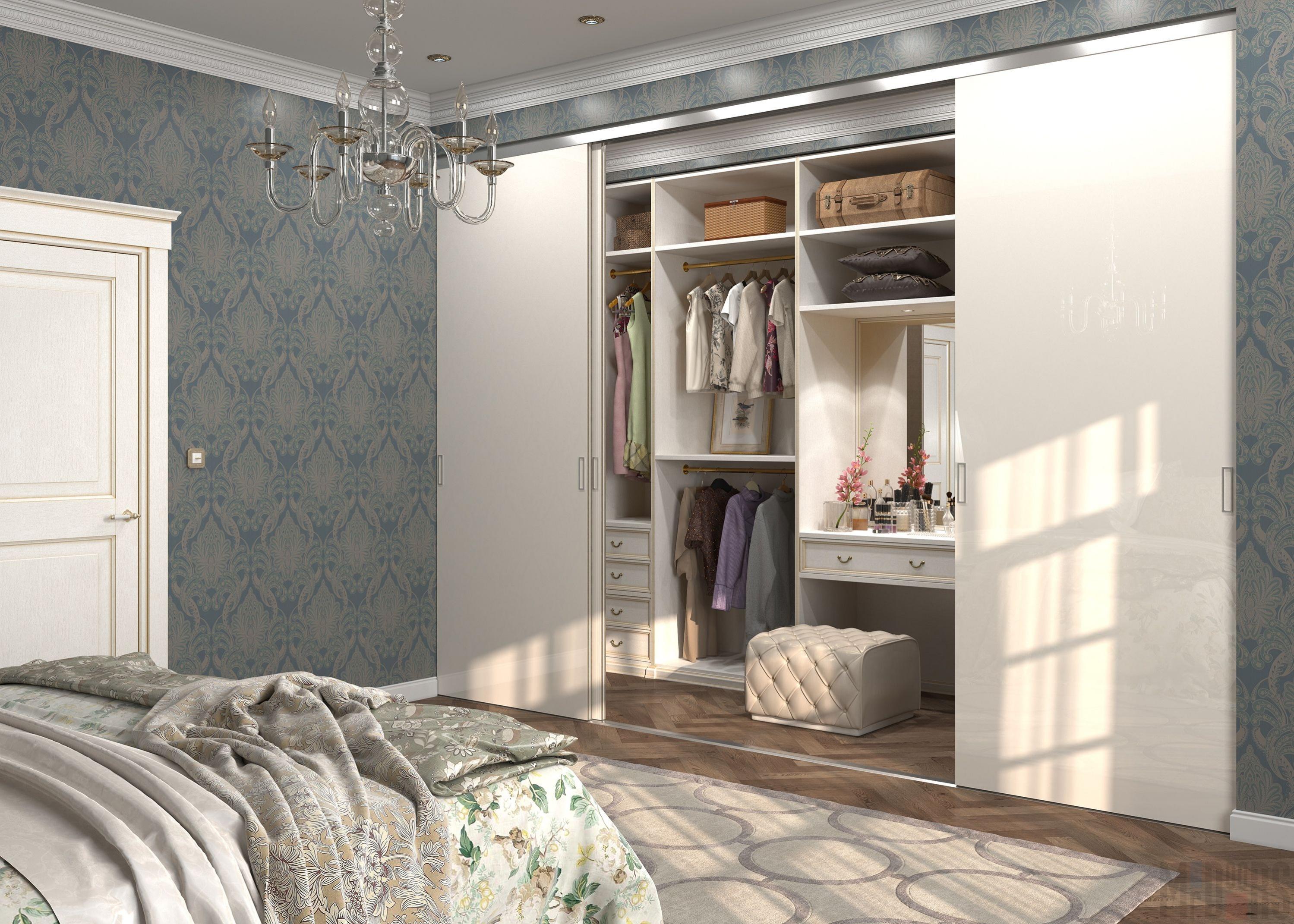 garderobnaya v spalne nebolshogo razmera - Гардеробная в квартире
