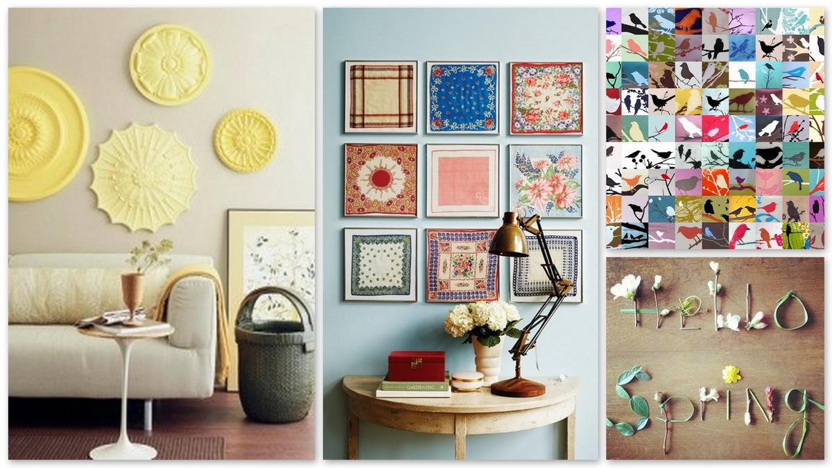 krasivyj vesennij dekor v dizajne prihozhej - Идеи хендмейд-декора для вашего интерьера из подручных материалов