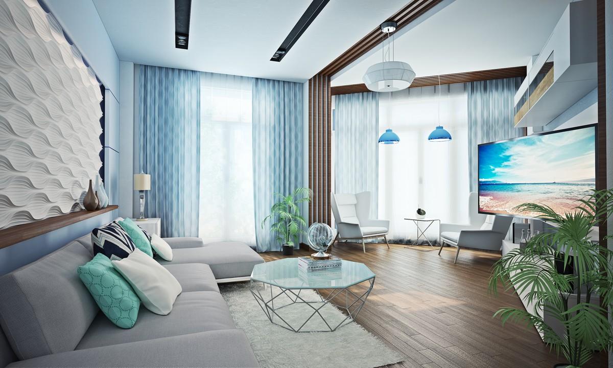 morskoj stil v interere - Стили интерьера для маленькой квартиры