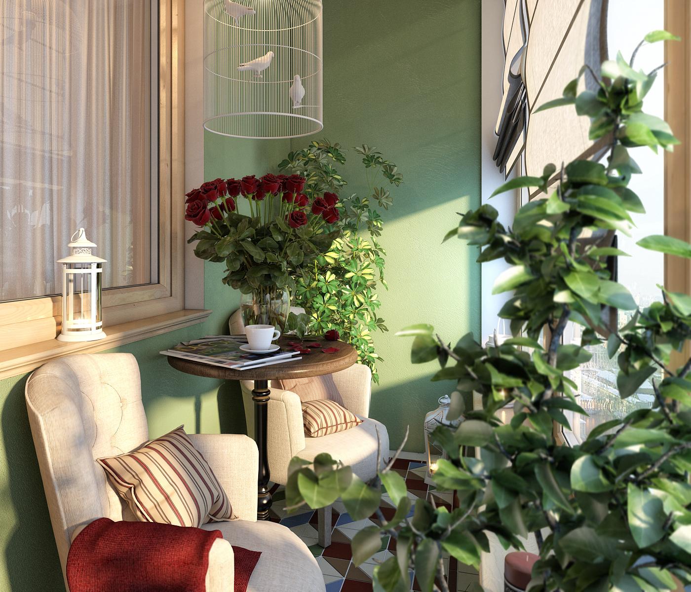 dizayn balkona 24 - Идеи для оформления балкона